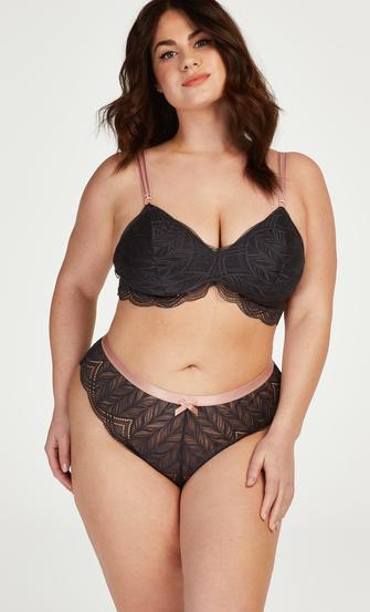 Jennifer high-cut Brazilian Curvy, Grey