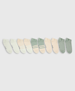 5 Pairs Trainer Liner Socks, White
