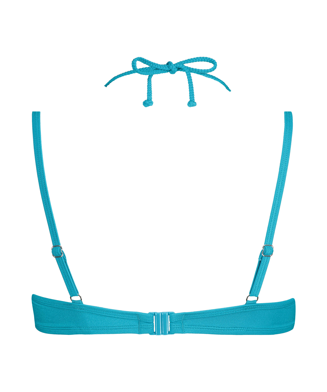 Celine padded underwired bikini top, Blue, main