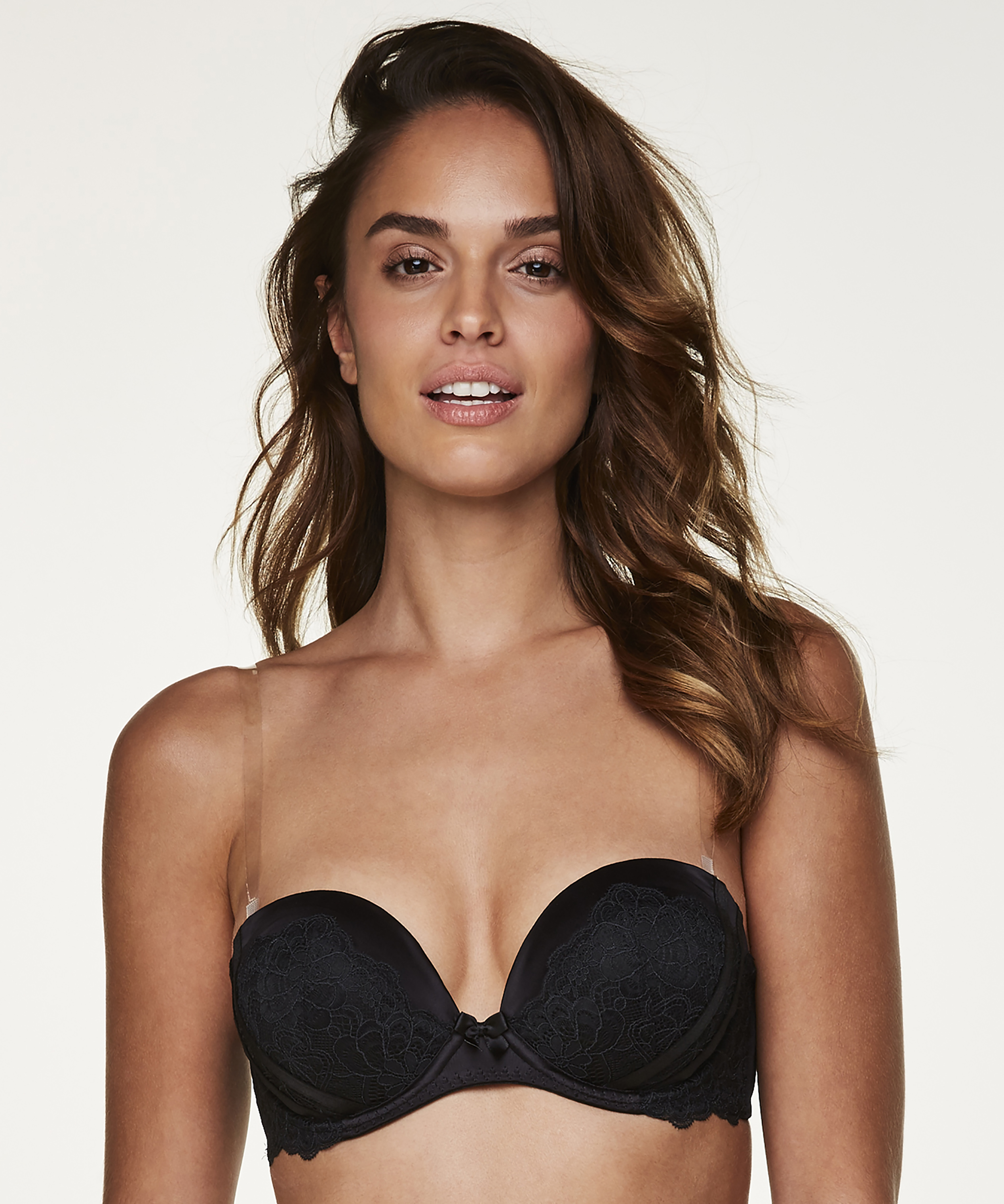 Transparent Bra Straps A to D cups, White, main