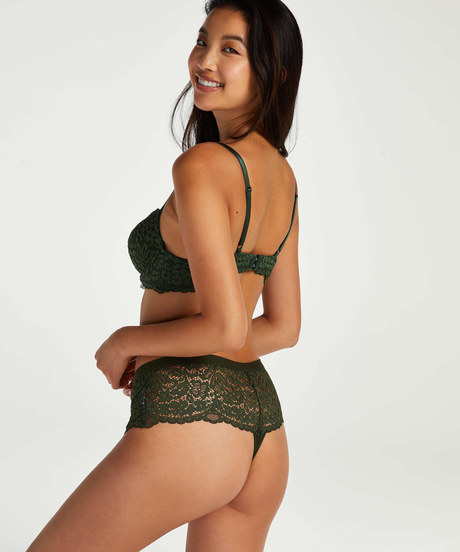 Rose Thong Boxers, Green, main