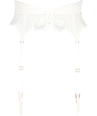 Hannako suspenders, White