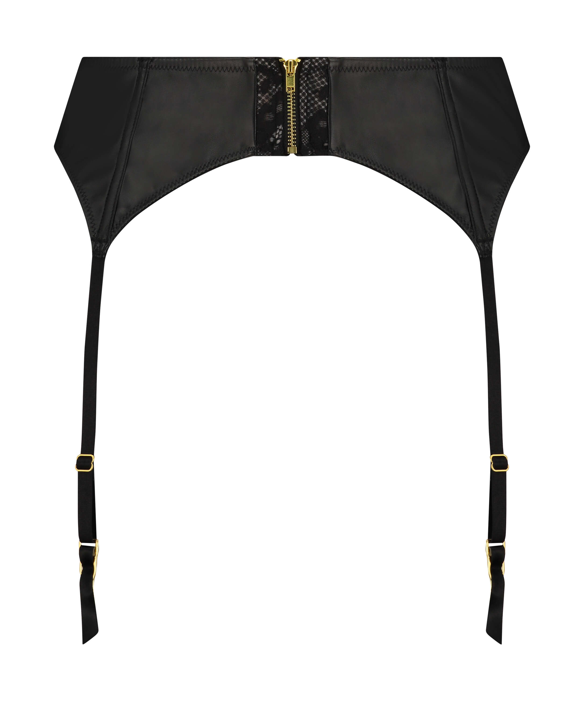 Talia Private Suspenders, Black, main