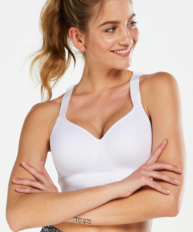 HKMX Sports bra The All Star Level 2, White, main