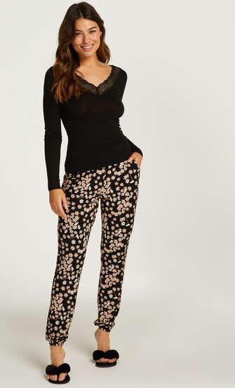 Lace Pyjama Set, Black