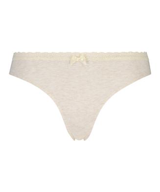 Cotton thong, Beige