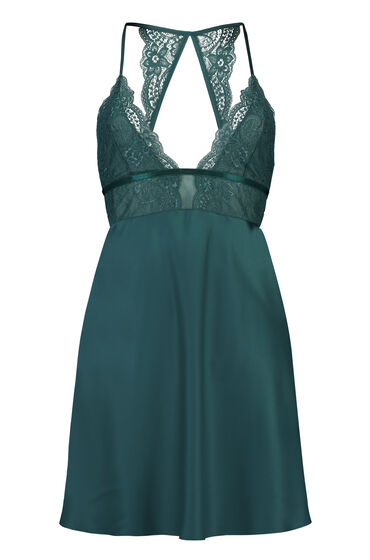 Hunkemöller Satin Lace Slip Dress Blue 170016 Xs, Blue