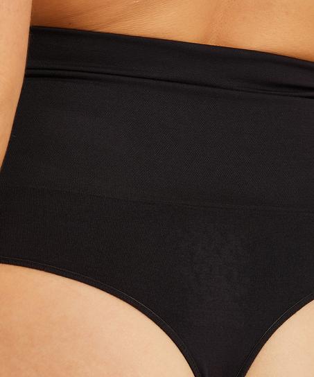 Firming high figure-control thong - Level 2, Black