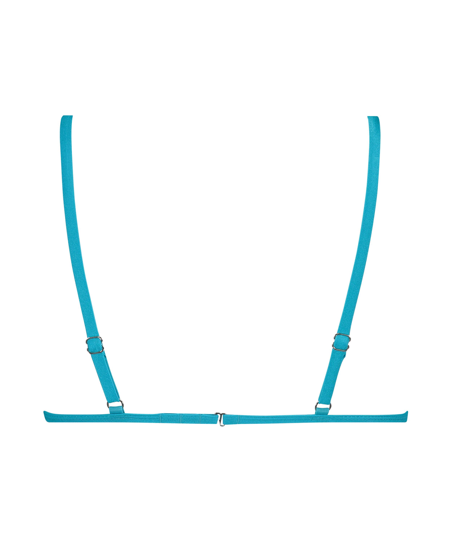 Celine triangle bikini top, Blue, main