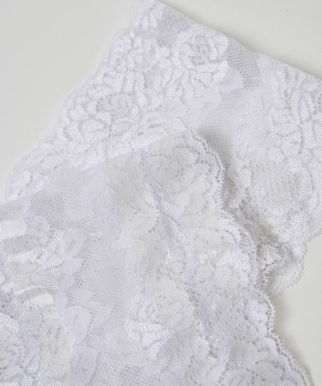 Lace thigh bands, White