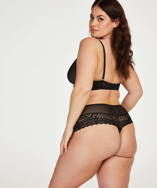 Lenix high thong boxers I AM Danielle, Black, main
