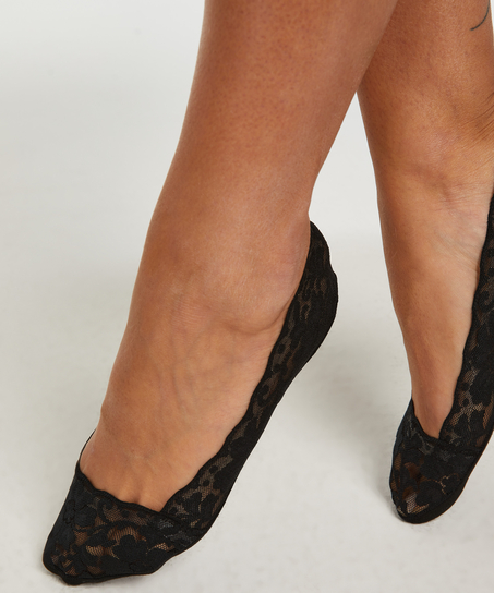2 pairs Lasercut Footsies, Black