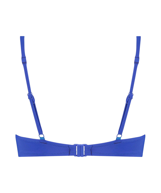Luxe push-up bikini top Cup A - E, Blue, main