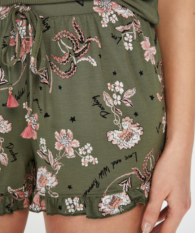 Jersey Pyjama Shorts, Green, main