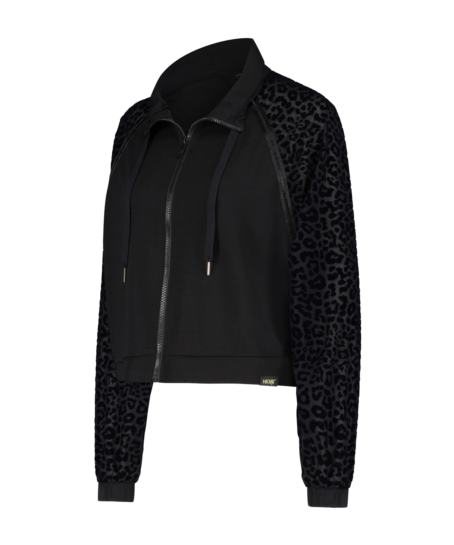 HKMX Leopard Jacket  , Black, main