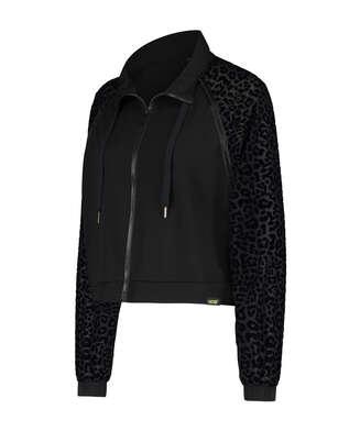 HKMX Leopard Jacket  , Black
