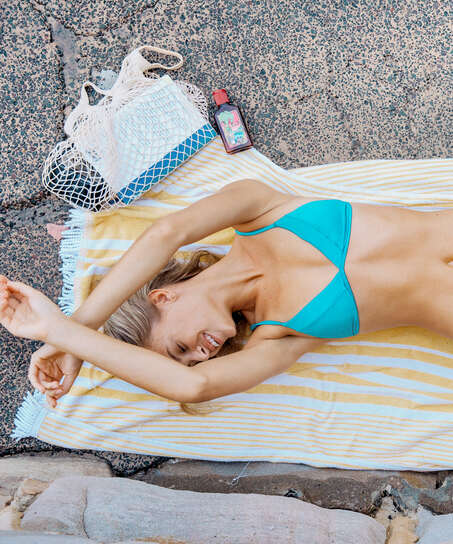 Celine triangle bikini top, Blue
