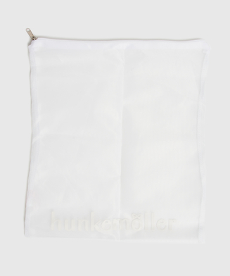 Hosiery bag zipper, White