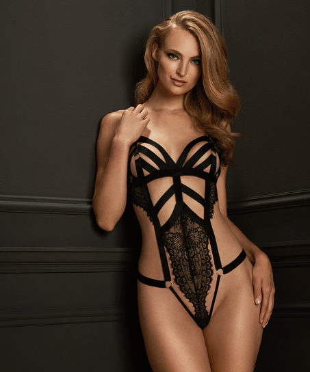 Ginger Open Crotch Body, Black