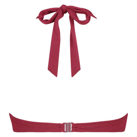 Golden Rings padded underwired bikini top, Red