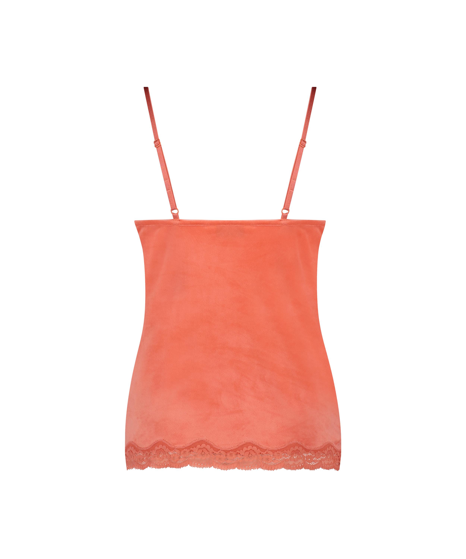 Velvet lace cami, Orange, main
