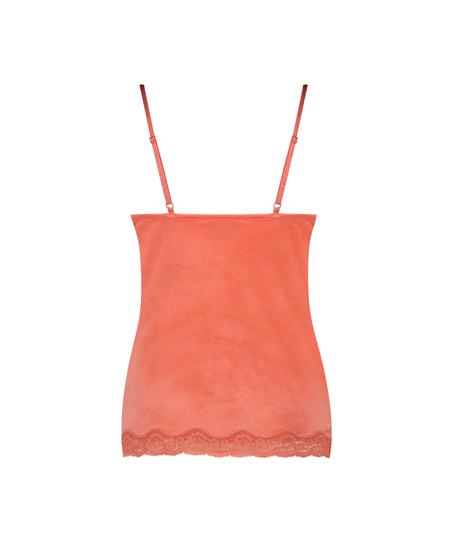 Velvet lace cami, Orange