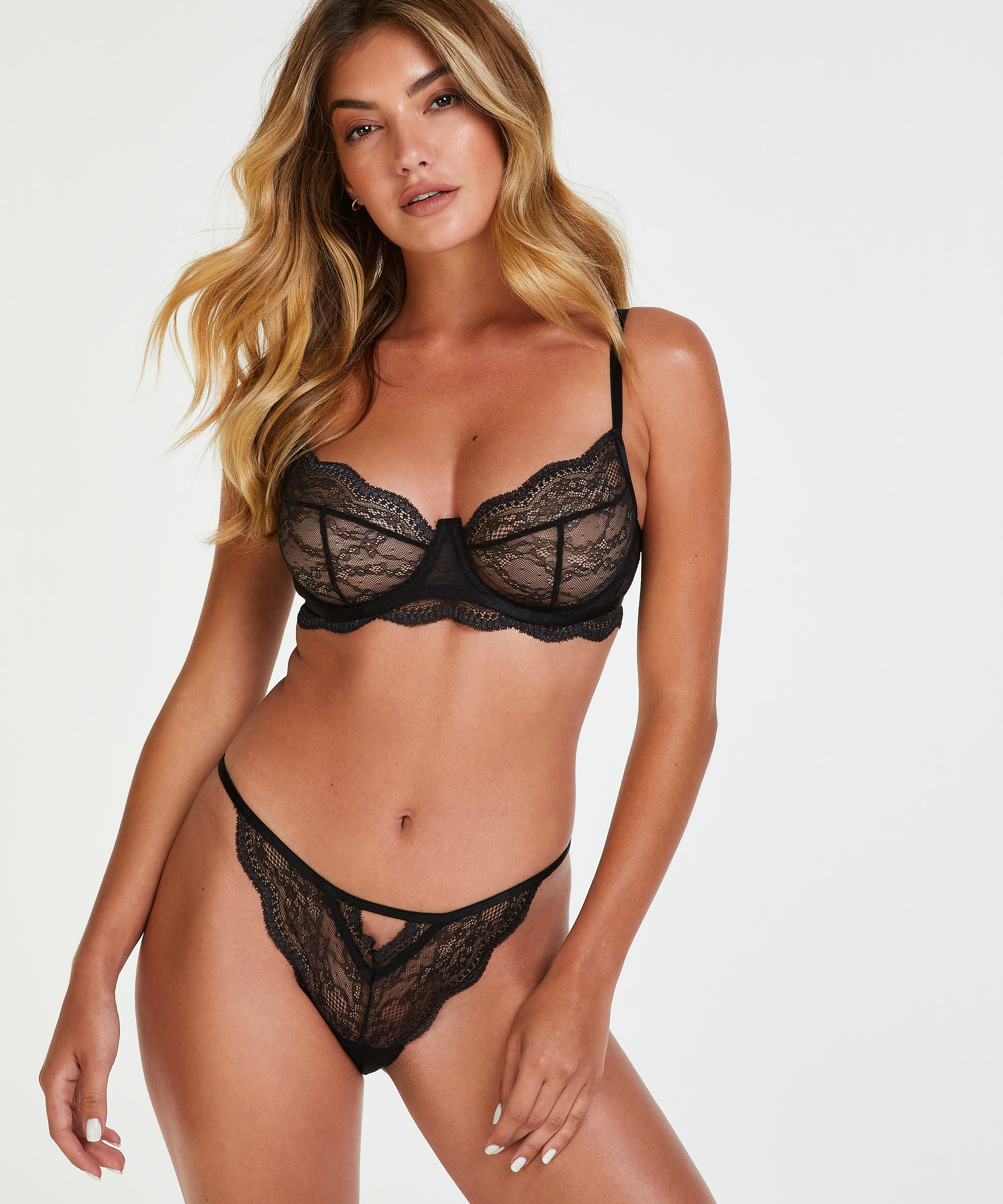 Isabelle non-padded underwired bra, Black, main