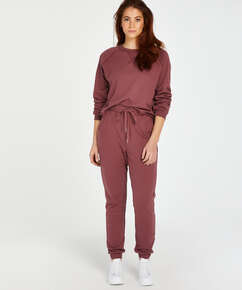 Sweat French jogging bottoms, Pink