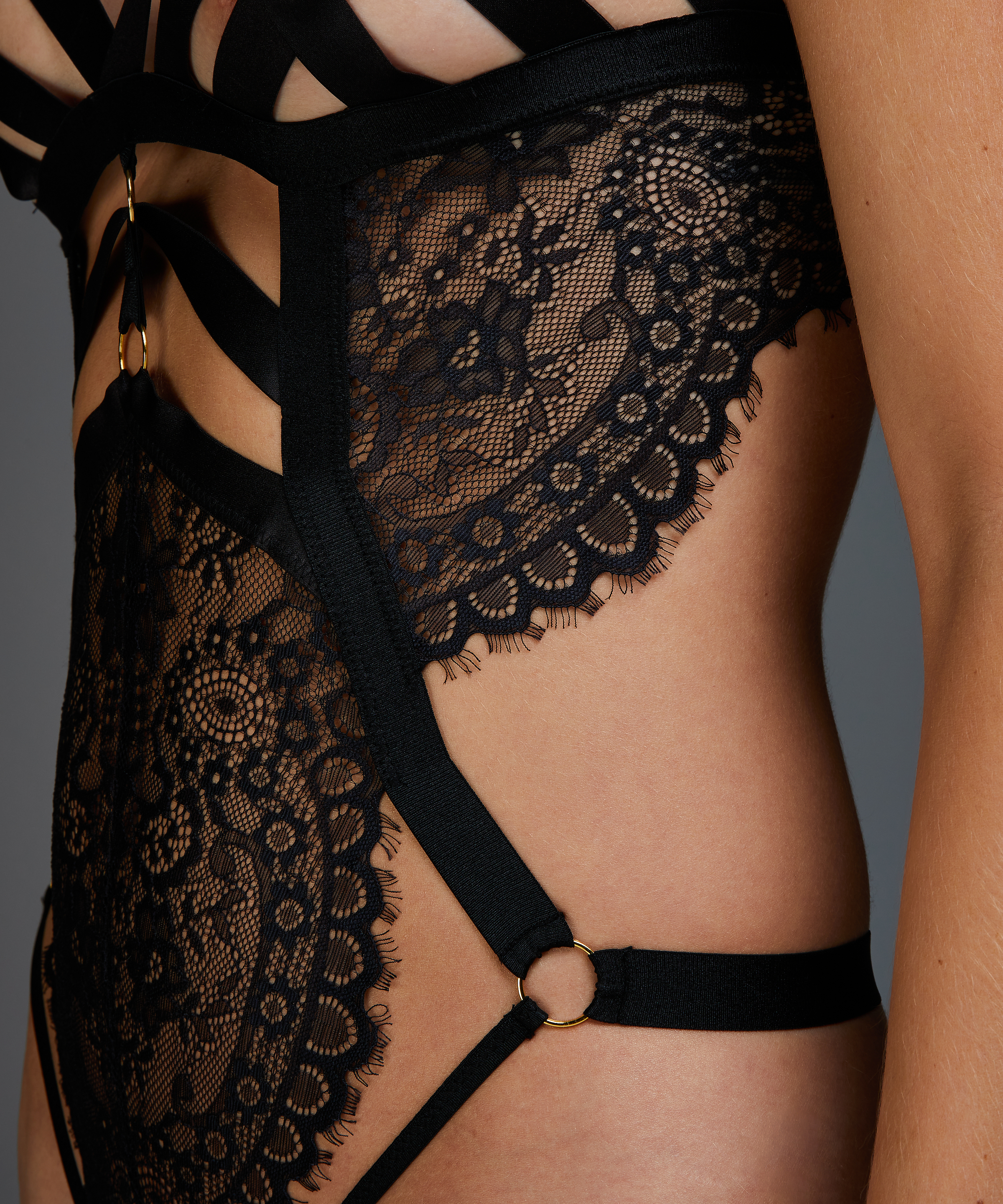 Ginger Open Crotch Private Body, Black, main