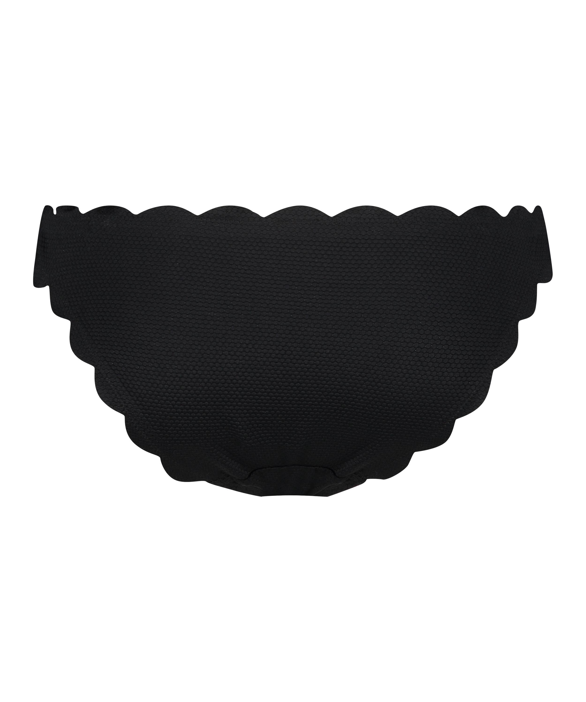 Scallop Glam low rio bikini bottoms, Black, main