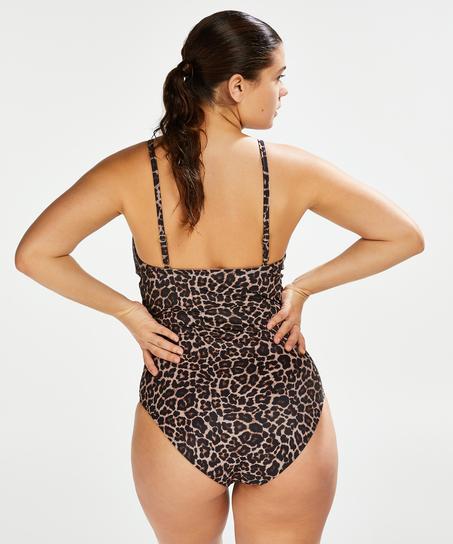Leopard swimsuit, Beige