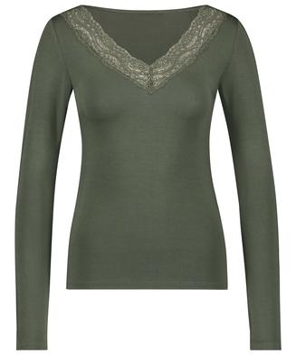 Jersey Long-sleeved Pyjama Top, Green