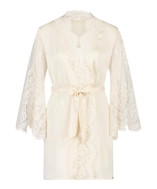 All-Over Lace Kimono, Beige, main