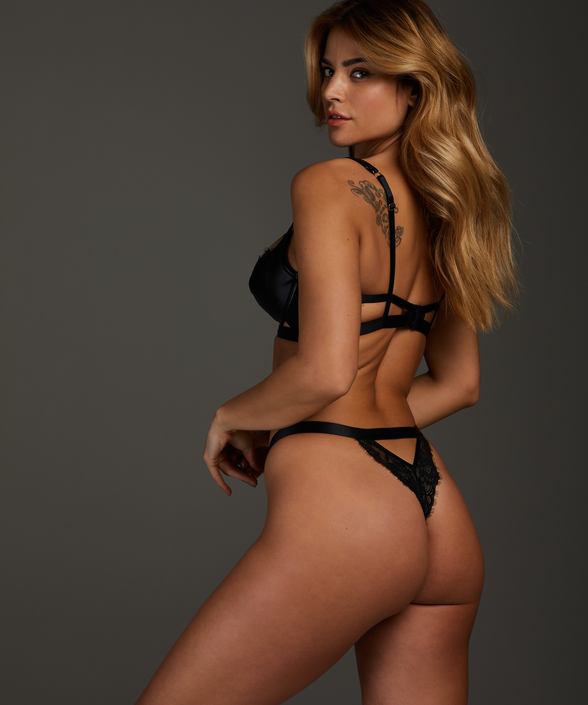 Dolly padded underwired bra, Black, main