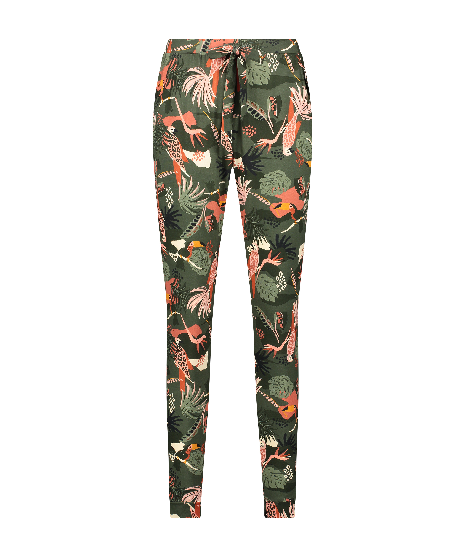 Tall Jersey Pyjama Pants, Green, main