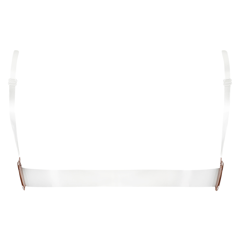 Transparent Back Padded Underwired Push-Up Bra, Beige, main