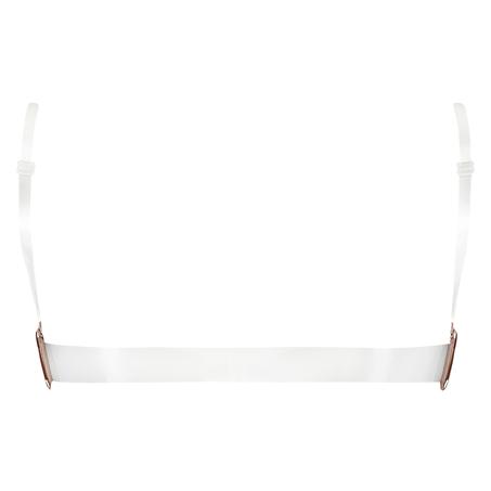 Transparent Back Padded Underwired Push-Up Bra, Beige