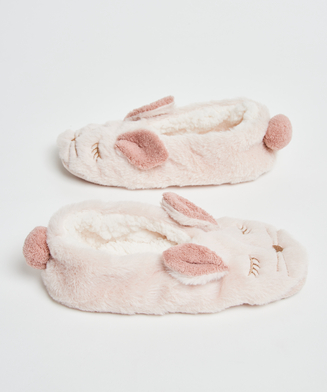 Ballerina Rabbit slippers, Beige