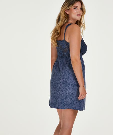 Nora Slip Dress, Blue