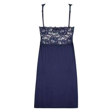 Modal Lace Slip Dress, Blue