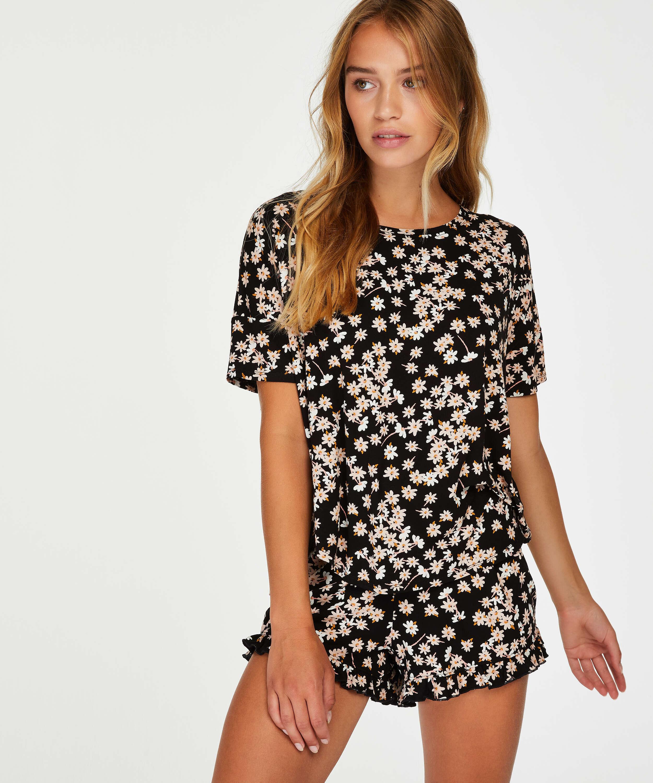 Short pyjama set, Black, main