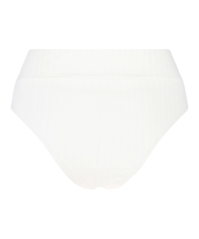 Emily high bikini bottoms, White, main