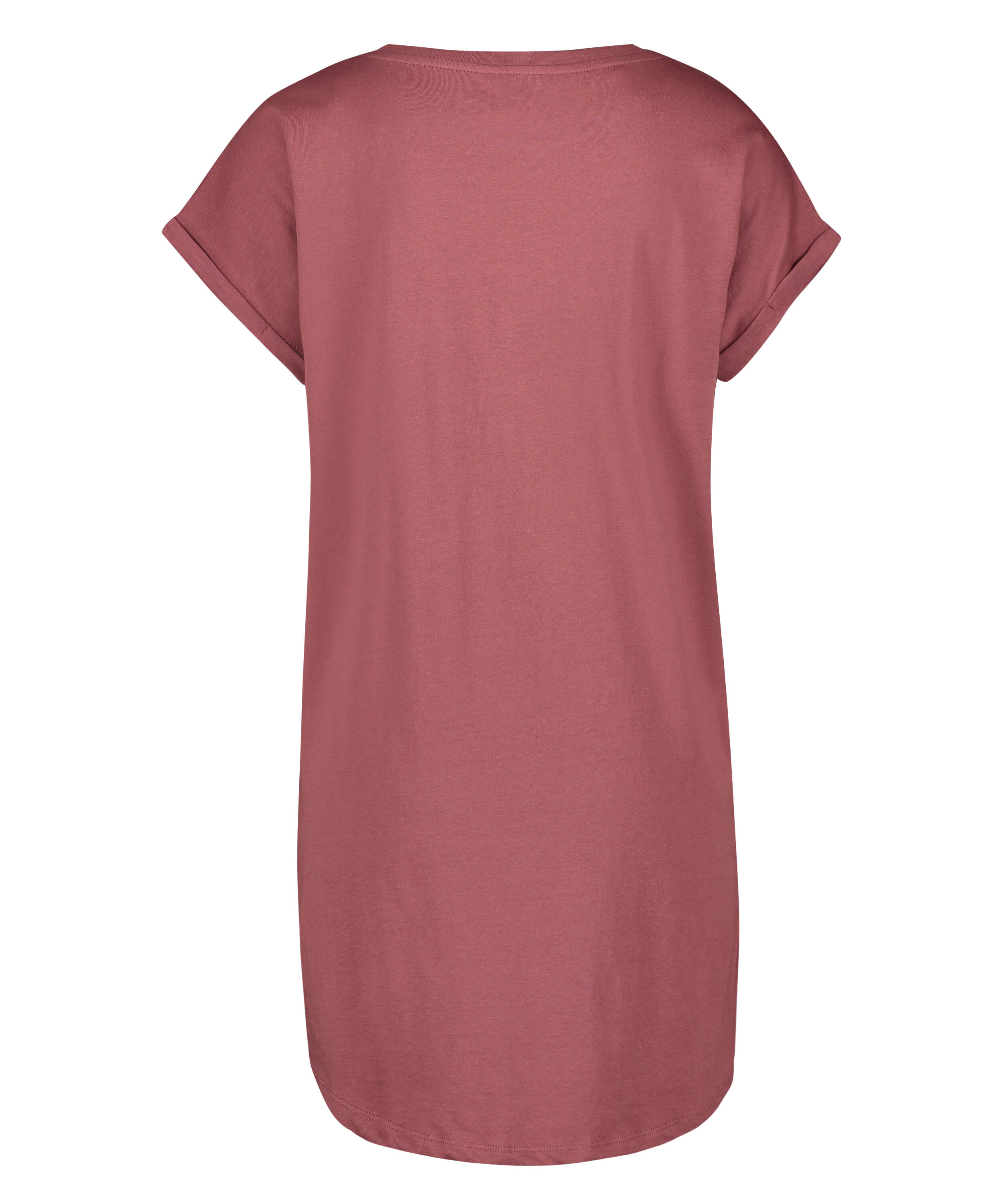 Round Neck Nightshirt, Pink, main