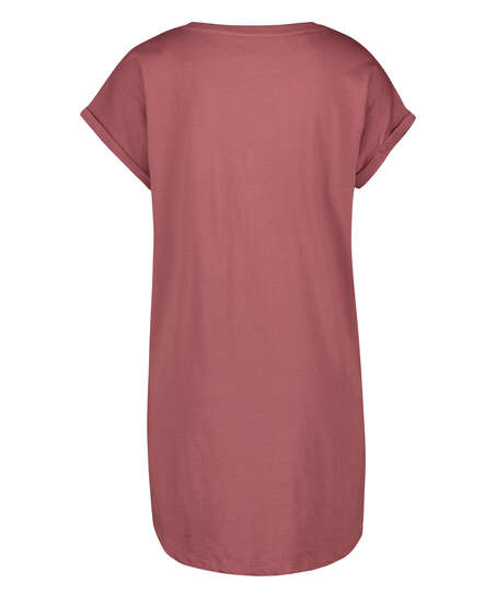 Round Neck Nightshirt, Pink