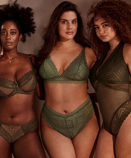 Filomena High Leg Brazilian I AM Danielle, Green