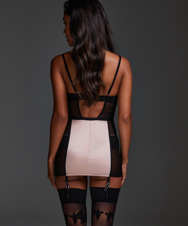 Amelia Padded Underwired Sip Dress , Black, main