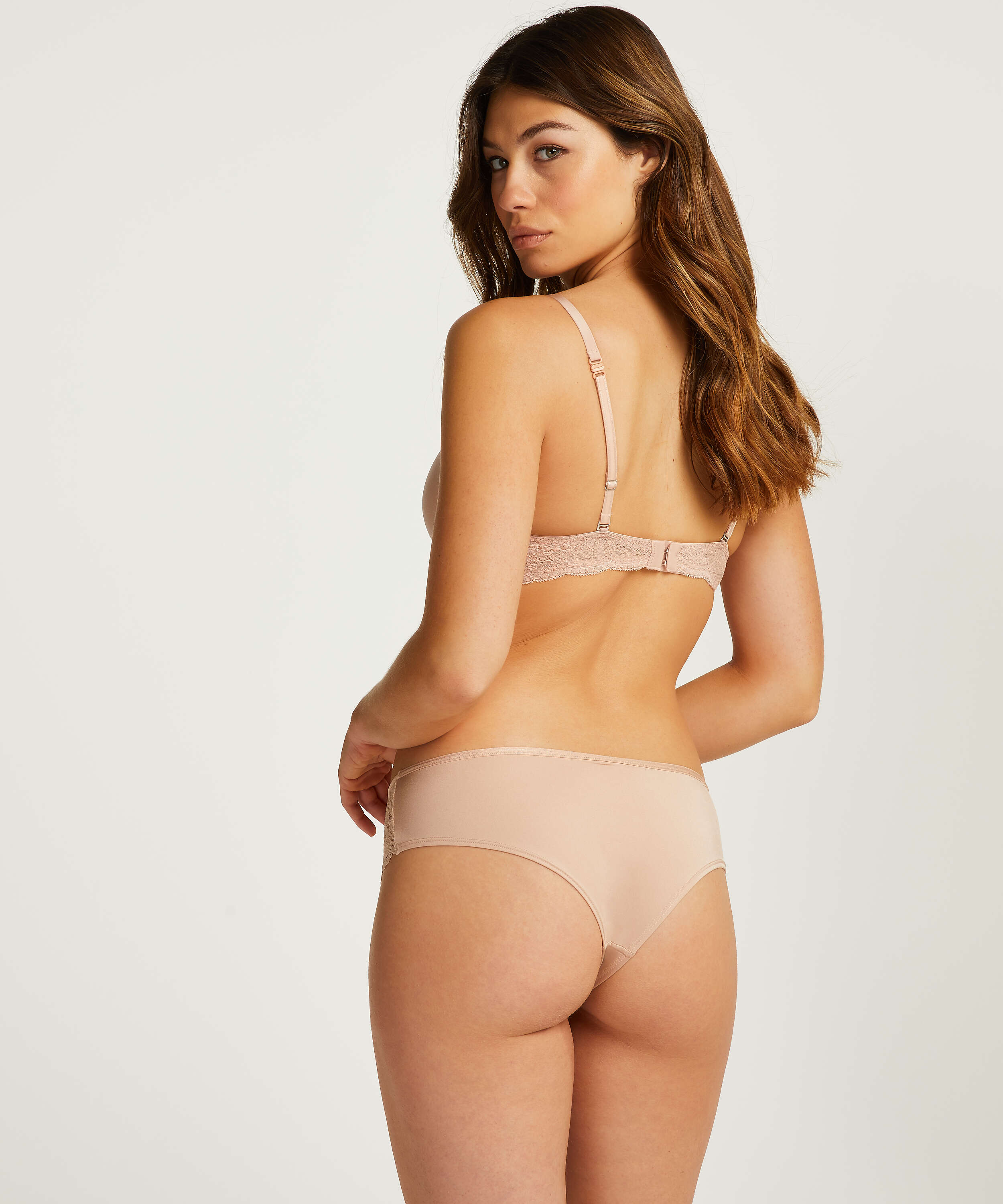 2-pack of Angie Brazilian knickers, Beige, main