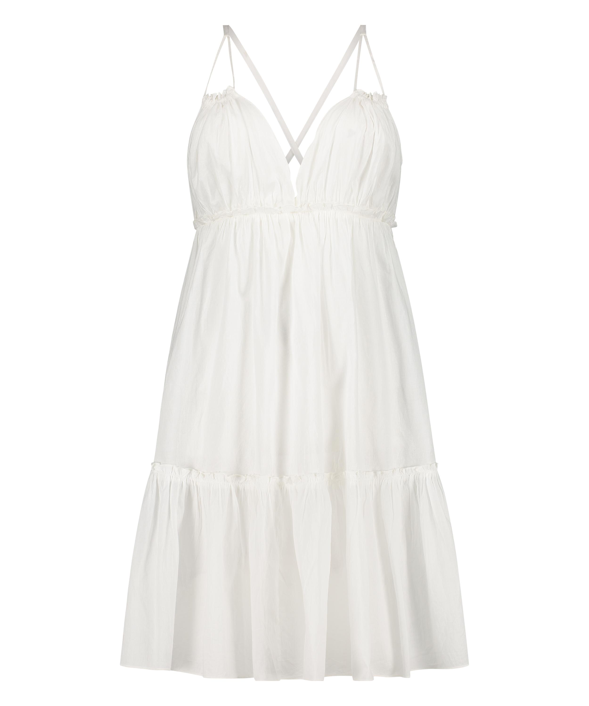 Tiered beach dress, White, main