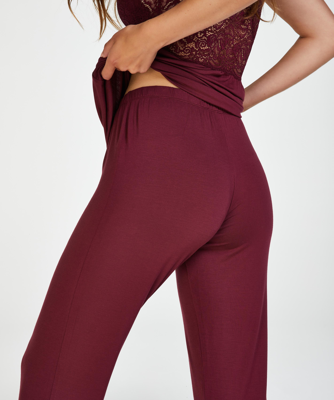 Vera Lace Pyjama Set, Red, main