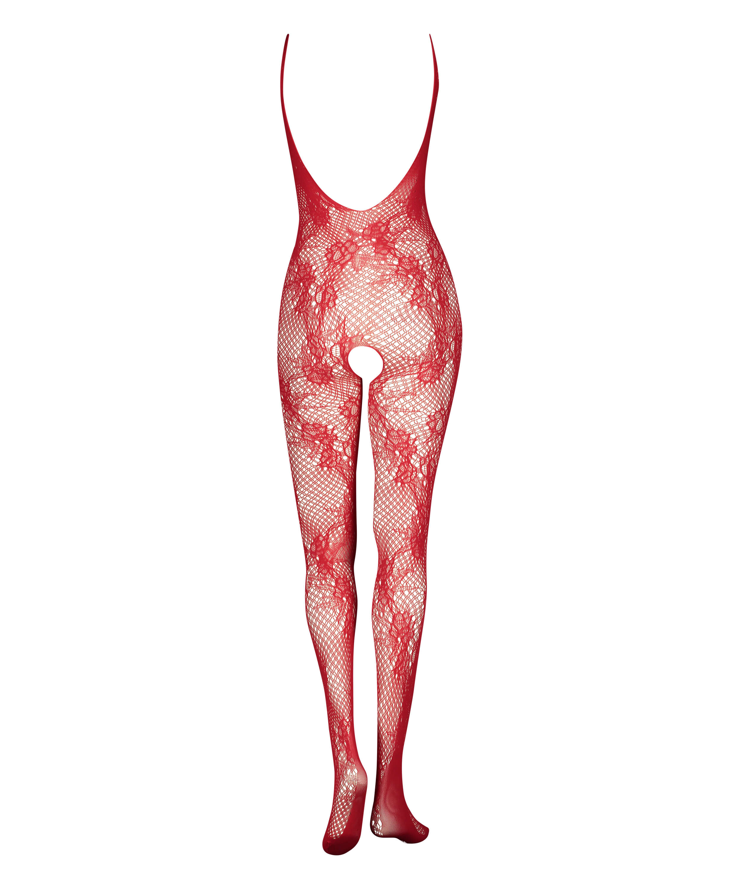 Private Open Lace Catsuit, Red, main
